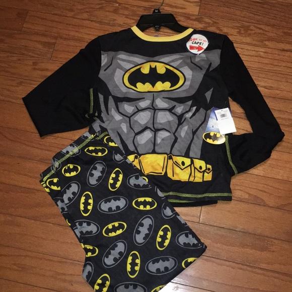 Komar Kids Boys 4 Piece Pajama Sleepwear Set with Shorts and Pants Batman